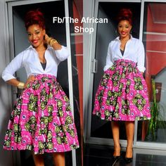 Flaired African skirt
