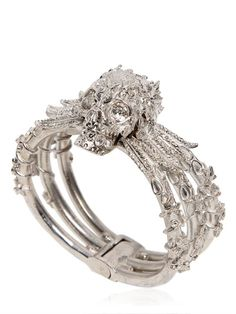 Alexander McQueen Skull Bracelet with Swarovski Crystals