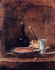 .¨. Jean-Baptiste-Simeon Chardin The Left Overs of a Lunch, also called the Silver Goblet