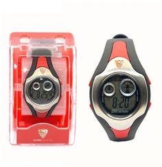 Reloj pulsera digital Cadete Sevilla F.C. - Reloj pulsera digital tamaño cadete del Sevilla Futbol Club, esfera:38mm