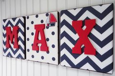 ***Price per letter is $21.00***  ***Note that these wall letters are custom made for the buyer; please allow up to 4-5 weeks for delivery***  These wooden letters are custom made to match any decor for nursery or kids room.  The above painted wooden letters are attached to beautiful fabric covered canvases. You can request to add an embellishment. Please send me a message of what you have in mind.  Any custom made requests are welcome, I would love to create one specially for you. These…