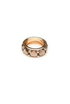 5041c76fec79 Pomellato Narciso wide 18kt rose gold band with five rose cut smoky quartz.  Various sizes may be special ordered. Available at Amanda Pinson Jewelry.