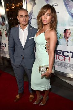 "Jennifer Lopez and Casper Smart make one hot couple at the premiere of ""Perfect Match""! 