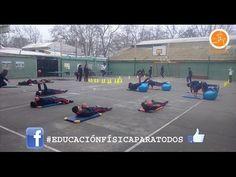 Juegos Educación Física - Atrapa La Bolsa - YouTube