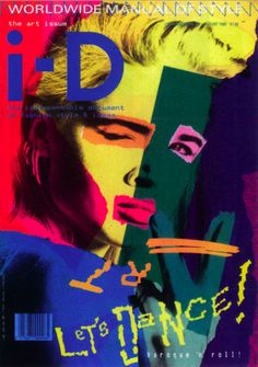 """What exactly does postmodernism art looks like?"""" (I-D Magazine cover during the designed by Terry Jones) Why is . Id Magazine, Magazine Design, Magazine Covers, William Faulkner, April Greiman, Terry Jones, Furniture Painting Techniques, Painting Furniture, Photo Images"""