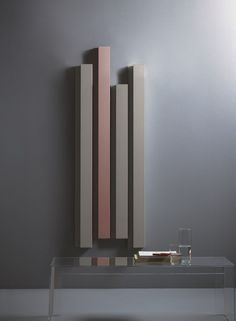 Hot-water vertical aluminium decorative radiator Rift Elements Collection by Tubes Radiatori design Ludovica Roberto Palomba, Matteo Fiorini Modern Bathroom Design, Bathroom Interior, Modern Bathrooms, Decorative Radiators, Vertical Radiators, Electric Radiators, Plafond Design, Designer Radiator, Decoration Inspiration