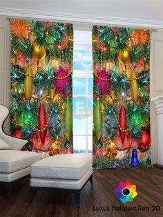 Cool Fotogardinen D Weihnachten Foto Vorh nge blickdicht in alle Ma en erh ltlich