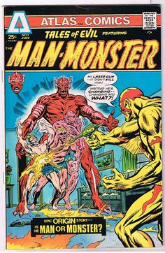 Tales of Evil featuring The Man-Monster #3, Atlas Comics, 1975
