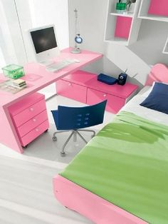 genc odasi calisma masasi fikirleri masa ve sandalye secimi renkli tasarimlar mobilya takimlari seker pembe yesil – Dekorasyon Cini