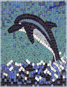 animare un mosaico è difficile e non vi dico far muovere un delfino pietrificato che salta e si tuffa nel mare pietrificato .... buona giornata #arteinmovimento