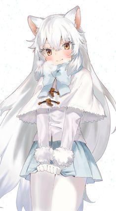 anime fox arctic nibba kawaii neko fairy