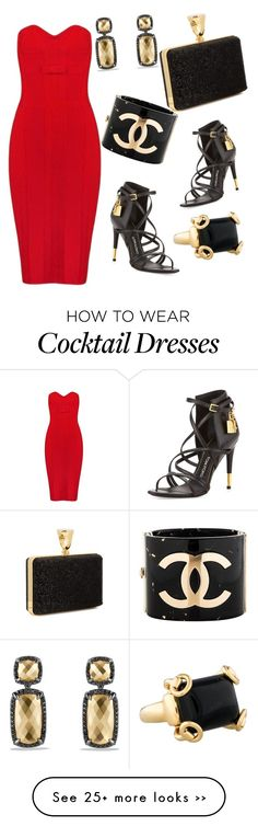 """Red Hott"" by bornewinner on Polyvore featuring Tom Ford, Chanel, Gucci and David Yurman"