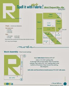 Moda... the Cutting Table: Spell it with Fabric- Letter R