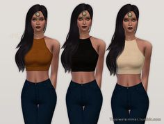 "tajsiwelsimmer: "" Keep You Up Top • 6 color options Enjoy! Tag me if you use so I can see how your sim looks in it ! :) Download """