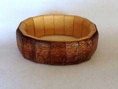 Koa and Alaska Yellow Cedar Bracelet by UpcountryDesign on Etsy, $70.00