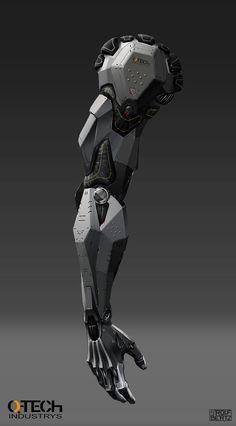 Infantery mechanical arm by Rolf Bertz