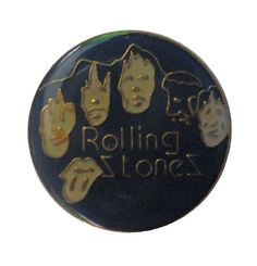 """ROLLING STONES vintage enamel pin button lapel badge by VintageTrafficUSA  14.00 USD  A vintage ROLLING STONES pin! Excellent condition. Measures: approx 1"""" 20 years old hard to find vintage high-quality cloisonne lapel/pin. Beautiful die struck metal pin with colored glass enamel filling. Have some individuality = some flair! Add inspiration to your handbag tie jacket backpack hat or wall. -------------------------------------------- SECOND ITEM SHIPS FREE IN USA!!! LOW SHIPPING OUTSIDE…"""