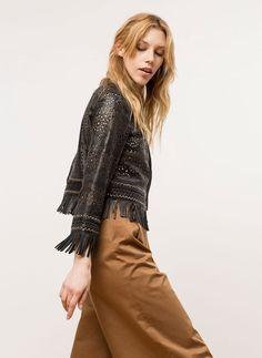 Uterqüe United Kingdom Product Page - Ready to wear - Jackets - Floral cut-work jacket - 270