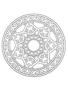 Mandala très joli effet dentelles. Parfait pour décorer un DIY. À imprimer gratuitement sur hellokids.com