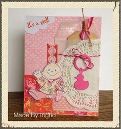 Ingrid's scrapfrutsels: Geboortekaartjes