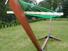 Stelaż na hamak drewno twarde bukowe
