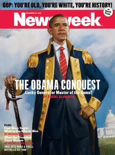 """Napoleonesque"" was Huffington Post's opinion of Newsweek's Obama re-election cover."