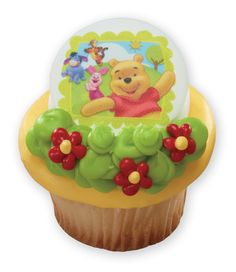 Winnie the Pooh is darling on a cupcake for first birthday celebrations or everyday celebrations.