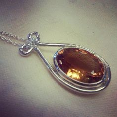 Handmade Sterling Silver and Citrine Pendant and by TheGoldDoc, $199.00