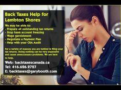 Lambton Shores   Back Taxes Canada.ca   416-626-2727   taxes@garybooth.com   CRA Audit, Tax Returns