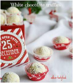 chute a vône mojej kuchyne.: Truffle z bielej čokolády a brusníc White Chocolate Truffles, Xmas, Baking, Ale, Recipes, Food, Christmas, Bakken, Ale Beer
