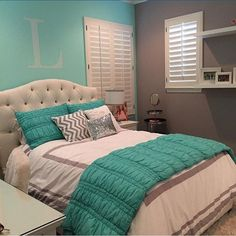 Teen girl bedrooms, check this arrangement for that complete enjoyable teen girl room decor, make-over number 8646207250 Small Room Bedroom, Bedroom Colors, Dream Bedroom, Room Decor Bedroom, Bed Room, Bedroom Furniture, Teenage Girl Bedroom Decor, Cute Bedroom Ideas, Girl Bedroom Designs