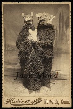 Victorian Halloween - those paper mache masks are terrifying - perfect