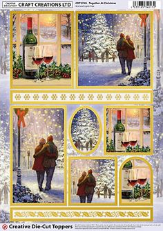 Together At Christmas foiled die-cut toppers – CDT572G