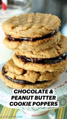 Easy Cookie Recipes, Cookie Desserts, Just Desserts, Sweet Recipes, Delicious Desserts, Dessert Recipes, Yummy Food, Chocolate Peanut Butter Cookies, Yummy Cookies