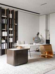 Modern Office Design, Office Interior Design, Home Office Decor, Office Interiors, Luxury Interior, Interior Design Living Room, Modern Interior, Office Furniture Design, Luxury Furniture