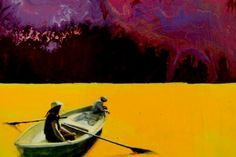 I am drawn to this painting of the rowboat. The intense color of dense mustard that comprises the work's waterbody is spellbinding. by Jari Ronkko Barns, Art For Sale, Find Art, Mustard, Saatchi Art, Art Projects, Art Photography, Houses, Sculpture