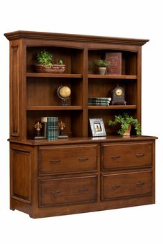 Superb Amish Liberty Classic Double Lateral File Cabinet With Optional Hutch Top