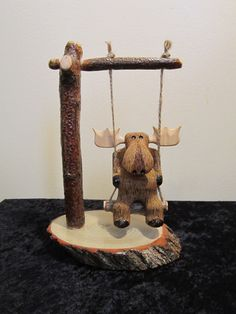 Whimsical Moose Carving by BriarRidgeCreation on Etsy