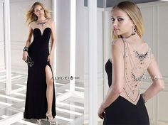 Absolutely fabulous! Simple front & back from Alyce Paris - style #35719!