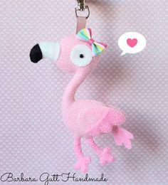 Barbara Handmade - felt flamingo
