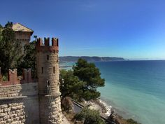 This beautiful castle stands directly on the beach of Borghetto Santo Spirito at Liguria. #Italy #Liguria #Castle
