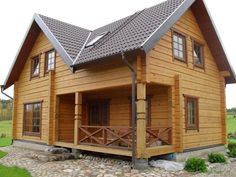Best-selling garden buildings like log cabins, wooden garages, carports, garden offices, wooden gazebos and other houses at the best price directly from manufac Style At Home, Quick Garden, Wooden Buildings, Little Cabin, Good House, Log Homes, Home Fashion, Cabana, Beautiful Homes
