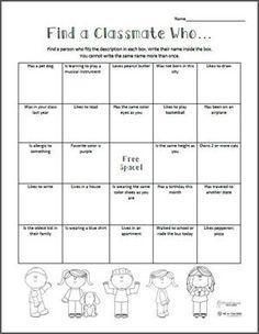 Find a Classmate Who... Back to School Scavenger Hunt | Free Printable from WeAreTeachers