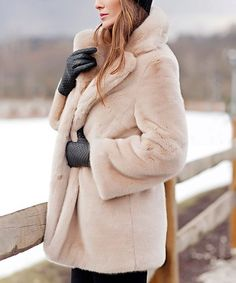 d9985106a4a4 Another great find on  zulily! Blush Faux Fur Coat - Plus Too  zulilyfinds