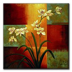 Infuse any room with color! This vividly rendered fine art print blooms with rich hues and the beauty of flowers. Artist: Jill Deveraux Title: White Orchid Product Type: Framed Print Style: Traditiona