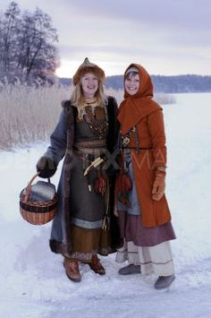 Members of Uppsala Viking society in beautiful homemade authentic Viking clothing and accessories. Uppsala, Sweden, (Oh. I didn't know there was a viking society in Uppsala!