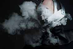 fashion mask dark black smoke  metal handmade photographer photo
