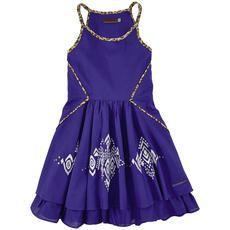 Catimini - Embroidered cotton voile sundress - Indigo blue - 105058