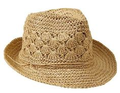Ok, hands down, this is my favorite pin on this board. I'm total hat person. Ok, hands down, this is my favorite pin on this board. I'm total hat person. Crochet Summer Hats, Crochet Cap, Crochet Applique Patterns Free, Sombrero A Crochet, Crochet Patron, Straw Fedora, Elastic Headbands, Crochet Clothes, Womens Scarves