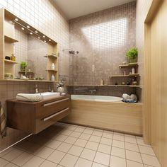 ванная комната (расположение мебели, сантехники) Особо заинтересовали полочки над ванной!!!